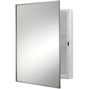 "Recessed Medicine Cabinet Framed Mirror 16"" x 26"""