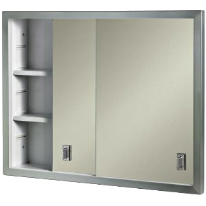 "Recessed Medicine Cabinet Sliding Mirrored Doors 24"" x 19"""