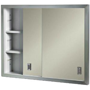 "Recessed Medicine Cabinet Sliding Mirrored Doors 24"" x 19"""