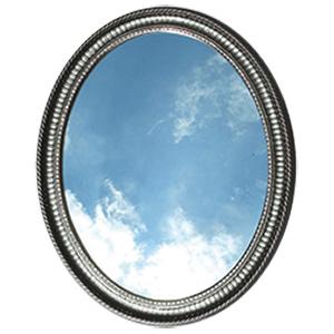 Surface Mount Oval Framed Mirror Medicine Cabinet