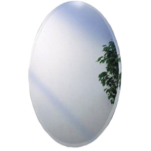 Recessed Oval Beveled Mirror Medicine Cabinet