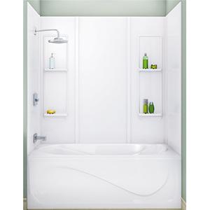 Elan 5-Piece Smooth Tub Surround White