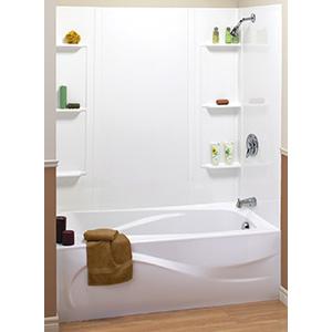 Tempest 5-Piece Textured Tub Surround White