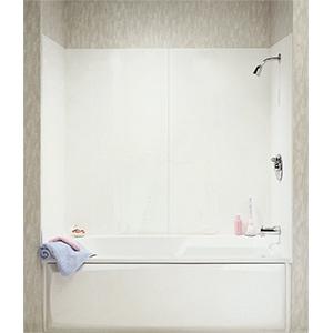 4-Piece Textured Jiffy Tub Wall Kit White