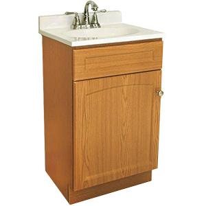 "Oak Assembled Vanity Combo 24""W x 18""D"