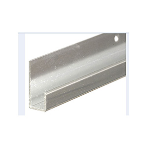 Mirror Bottom Channel Silver 6 Ft