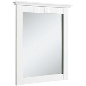 """Framed Cottage Mirror 21""""W x 24""""H White"""