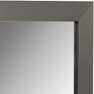 "Framed Mirror with Brushed Nickel Frame 24"" x 36"""