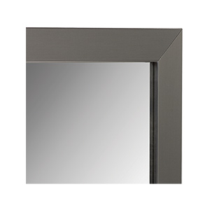 "Framed Mirror with Brushed Nickel Frame 36"" x 36"""