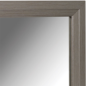 """Framed Mirror with Brushed Nickel Frame 24"""" x 36"""""""