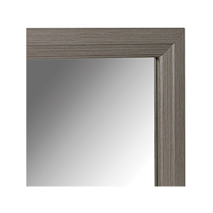 """Framed Mirror with Brushed Nickel Frame 36"""" x 36"""""""