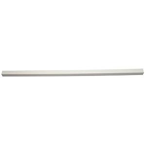"3/4"" x 36"" Plastic Towel Bar White"