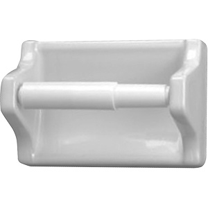 Ceramic Toilet Paper Holder White