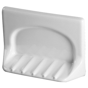 Ceramic Grout-In Soap Dish White