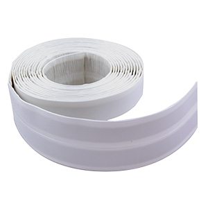 "Tub to Wall Peel & Stick Trim White 1-5/8"" x 132"""