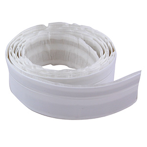 "Tub to Wall Peel & Stick Trim White 1-1/4"" x 60"""