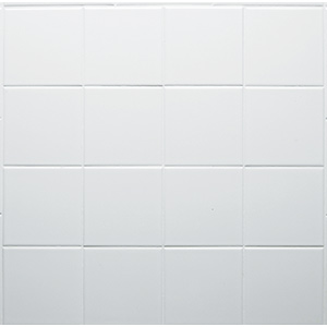 "Ceramic Square Tile White 4-1/4"" x 4-1/4"""