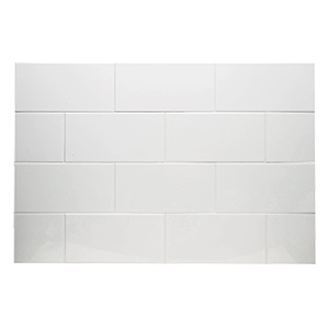 "Ceramic Subway Tile White 3"" x 6"" Subway White"