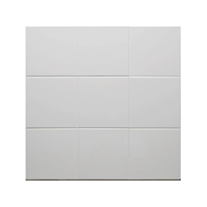 "Ceramic Square Tile White 6"" x 6"" White"