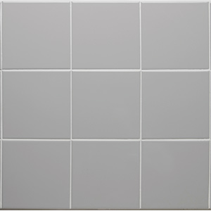 "Ceramic Square Tile Smoke 6"" x 6"" Smoke"