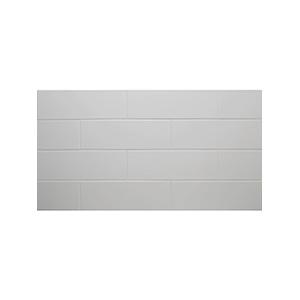 """Ceramic Subway Tile White 4-1/4"""" x 12-3/4"""" White"""