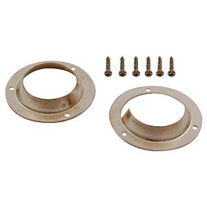 Closet Pole Sockets Pair Polished Brass