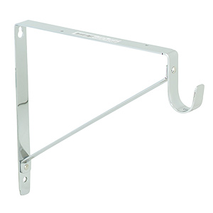 Combo Fixed Shelf/Rod Support White