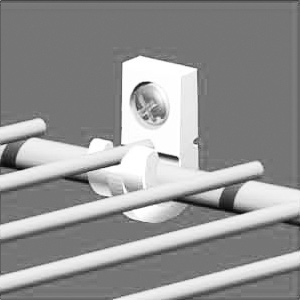 Closetmaid Wall Mounting Clip Pre-Loaded
