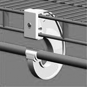 Ventilated Shelving Universal Closet Rod Support