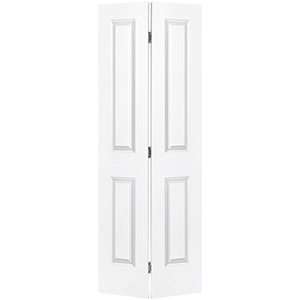 "Bifold Door Set 2-Panel Primed White 30"" x 80"""