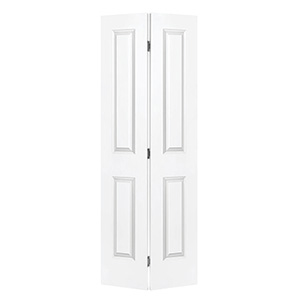 "Bifold Door Set 2-Panel Primed White 32"" x 80"""