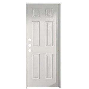 """Exterior 6-Panel Steel Prehung Door RH 36"""" x 80"""" x 1-3/4"""""""