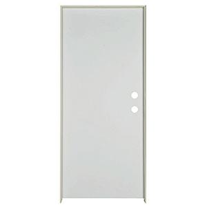 "Exterior Flush Steel Prehung Door LH 36"" x 80"" x 1-3/4"""