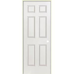 "Interior Pre-Hung 6-Panel Door 18"" x 80"" Left Hand"