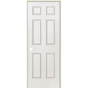 "Interior Pre-Hung 6-Panel Door 30"" x 80"" Left Hand"
