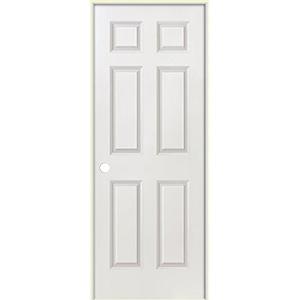 """Interior Pre-Hung 6-Panel Door 32"""" x 80"""" Left Hand"""