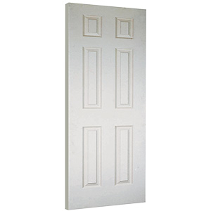 "Interior 6-Panel Primed Slab Door 30"" x 80"