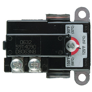 Therm-O-Disc Lower Water Heater Single Pole Thermostat