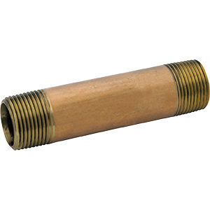 "Brass Nipple 3/4"" x 3"" Brass"