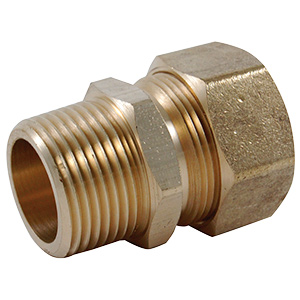 """Water Heater Connector Adapter 7/8"""" O.D. Comp x 3/4"""" MIP"""