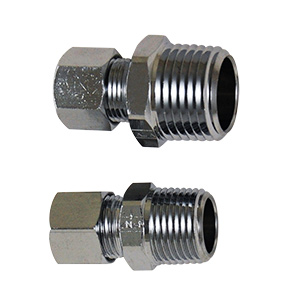 "Brass Compression Male Adapter 3/8"" Compression x MIP Chrome"
