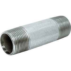 "Galvanized Nipple 1/2"" x 2"""