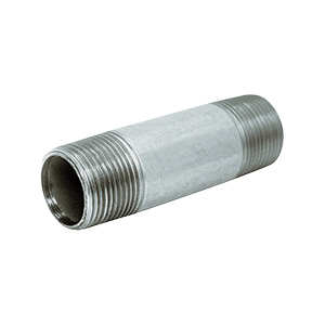 "Galvanized Nipple 1/2"" x 6"""