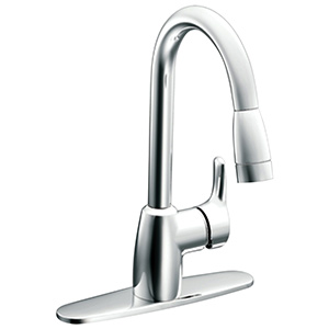 CFG Baystone Chrome Pull-Out Spout Kitchen Faucet