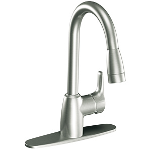 CFG Baystone Classic Stainless Pull-Out Spout Kitchen Faucet