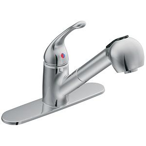 CFG Capstone Chrome Pullout Spout Kitchen Faucet