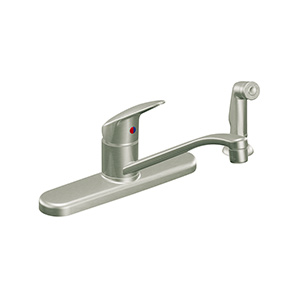 CFG Cornerstone Brushed Nickel Kitchen Faucet with Spray