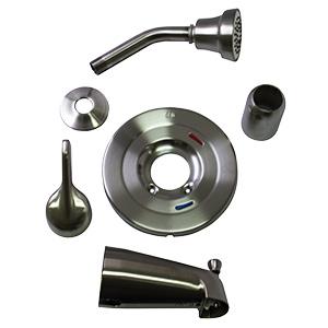CFG Cornerstone Satin Nickel Tub/Shower Trim Kit 1.75 GPM
