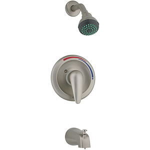 Banner Brushed Nickel Tub/Shower Faucet Set