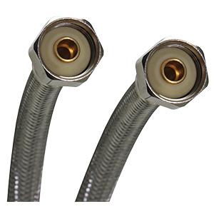 """Fluidmaster SS Faucet Supply Line 1/2"""" IPS x 1/2"""" IPS x 20"""""""